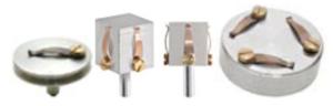 Portacampioni pin stub e cilindrici con clip per diverse applicazioni