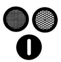 Griglie TEM diametro standard di 3,05 mm  disponibili da 75 a 400 mesh.  Square Mesh, Hexagonal mesh, Double Folding grids, Slotted e Round Hole.  Disponibili in molibeno (Mo), Titanio (Ti), Alluminio (Al) e acciaio inossidabile 316. Utili per analisi EDX, alte temperature e analisi cryo.