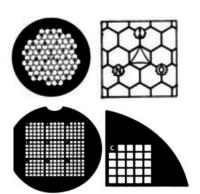 Griglie TEM con pattern di riferimento per consentire il riposizionamento su una particolare area della griglia. Utili per l'analisi forense e dell'amianto. Disponibili in rame (Cu), nickel (Ni) e oro (Au).