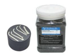 Polvere con gradite conduttiva per compression mounting. Ideale per applicazioni SEM, EDS / WDS e elettropulitura
