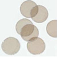 Mica V1 di altissima qualità, spessore 0,21 mm  Disponibile in quattro diametri: 10 mm, 12mm, 15mm, 20 mm