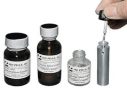 Adesivi conduttivi per la preparazione dei campioni. Disponibili con varie basi (mono e bicomponenti) per soddisfare tutte le esigenze