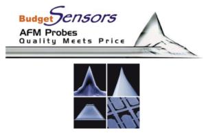 Le punte AFM BudgetSensors rappresentano una scelta eccellente per le elevate esigenze odierne nella ricerca sulle nanotecnologie. Progettati da specialisti in AFM, combinano l'ultima tecnologia di punte AFM un prezzo accessibile