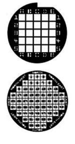 Substrati per portacampioni SEM con pattern alfanumerico per identificare il punto di analisi