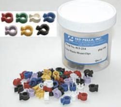 Clips per la tenuta dei campioni. Disponibili in metallo, plastica e multiclips