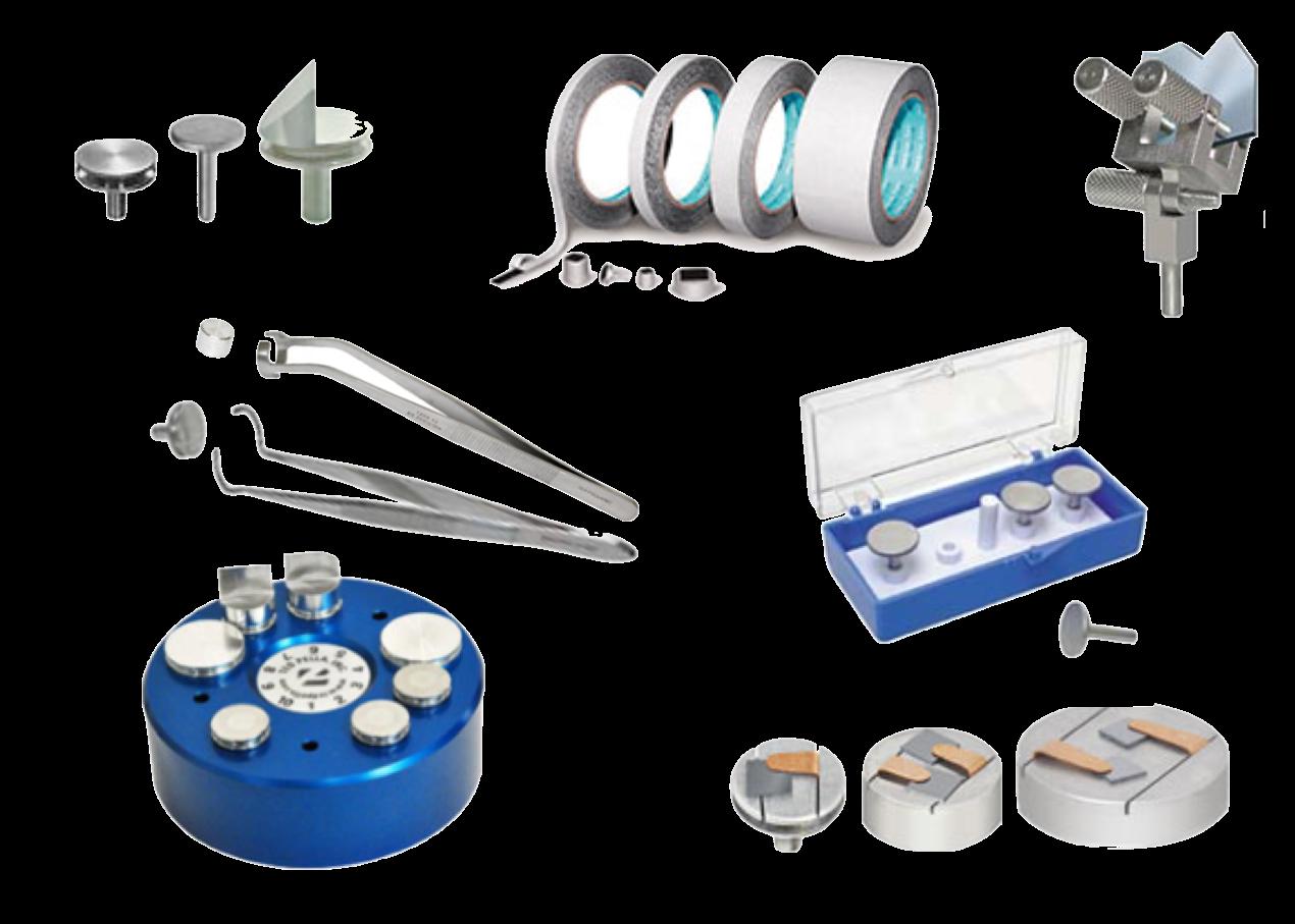 Portacampioni SEM<br>adesivi e nastri<br>pinzette e scatole