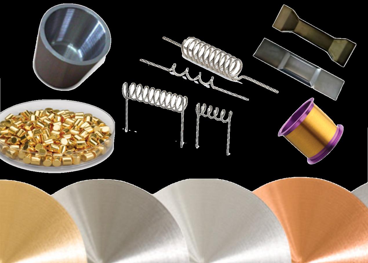 Target, pellet, fili, crogioli, boats e filamenti termici purezza, forma e dimensione su richiesta del cliente