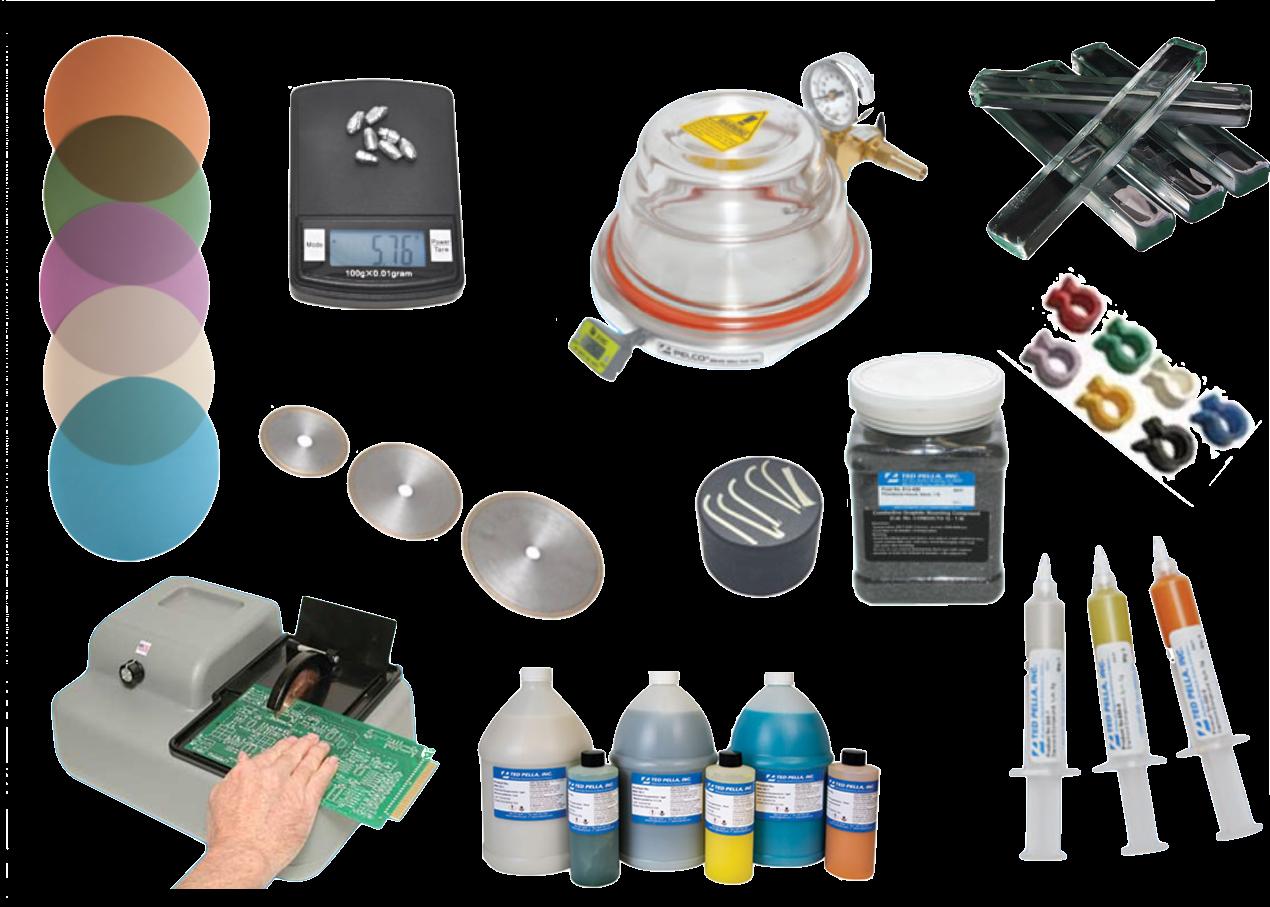 Taglio, lappatura, lucidatura, embedding per metallografia, petrografia, elettronica e semiconduttori