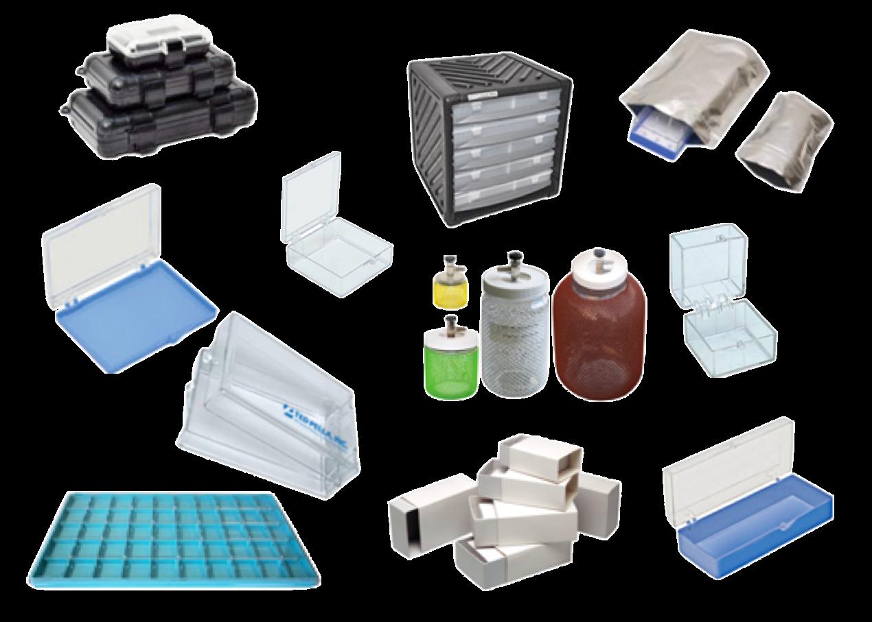 Per organizzare e conservare i campioni, scatole conduttive, con membrana e cabinet