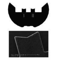 Griglie in carbonio puro con 2 V-style posts. Ottime per EDS e spettroscopia e garantiscono un'adesione elevata del platino depositato su fasci, che consente un fissaggio altamente stabile della lamella del campione.