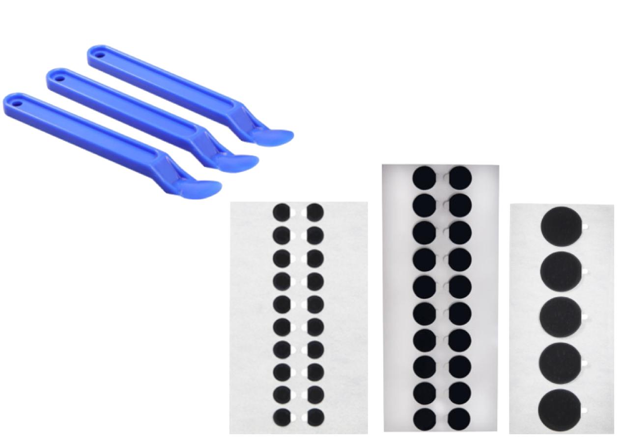 Nuovi Tabs perfetti per l'analisi delle particelle e spatole per la rimozione dei nastri.