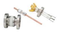 KJLC produces more than 1,200 electrical, liquid and gas, motion and optical feedthroughs in a variety of terminations, maximum voltages, and current carrying capacities.