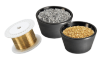 High purity materials for evaporation. Pure metals, alloys, oxides, fluorides, and nitrides. Various shapes, sizes, and quantities available. Materials can be packaged in the sizes required.