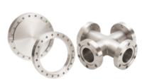 KJLC supplies a complete range of flanges and flanged components such as nipples, elbows, tees, crosses, flex bellows, glass-metal seals, quick couplings, viewports, etc. in all standard vacuum flange systems.