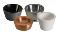 Intermetallic crucibles are available. Due to the wetting characteristics of liquid aluminum, taller crucibles help inhibit material spillover by maintaining a cool lip around the top while also extending the life of both the crucible and crucible heater. Thin films of titanium also can be evaporated from intermetallic crucibles.