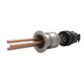Passanti di potenza disponibili con valori nominali fino a 1750V e 250A con spine filettate semplici e sicure, fino a 4 conduttori. Disponibili versioni flangiate, CF e KF.