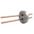 Passanti di potenza disponibili fino a 5000V e 180A, fino a 12 conduttori. Disponibili versioni flangiate, CF, KF e con piastra di base e NPT.