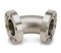 I giunti a gomito sono fabbricati con tubi in acciaio inossidabile 304L e flange CF.  Design a raggio e obliquo disponibili a 45° o 90°.