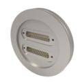 Passanti per strumentazione con connettività MIL-C-24308 (subminiatura D), fino a 500 V e 5 A, configurazioni a doppia estremità. Disponibili versioni flangiate CF e KF.