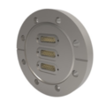 Passanti per strumentazione con connettività MIL-C-24308 (High Density Subminiature D), fino a 500 V e 3 A, configurazioni a doppia estremità. Disponibili versioni flangiate CF e KF/ISO.