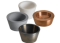 Crucible liners per l'evaporazione e-beam. Disponibili in diversi materiali e dimensioni per adattarsi agli e-gun  di vari produttori.